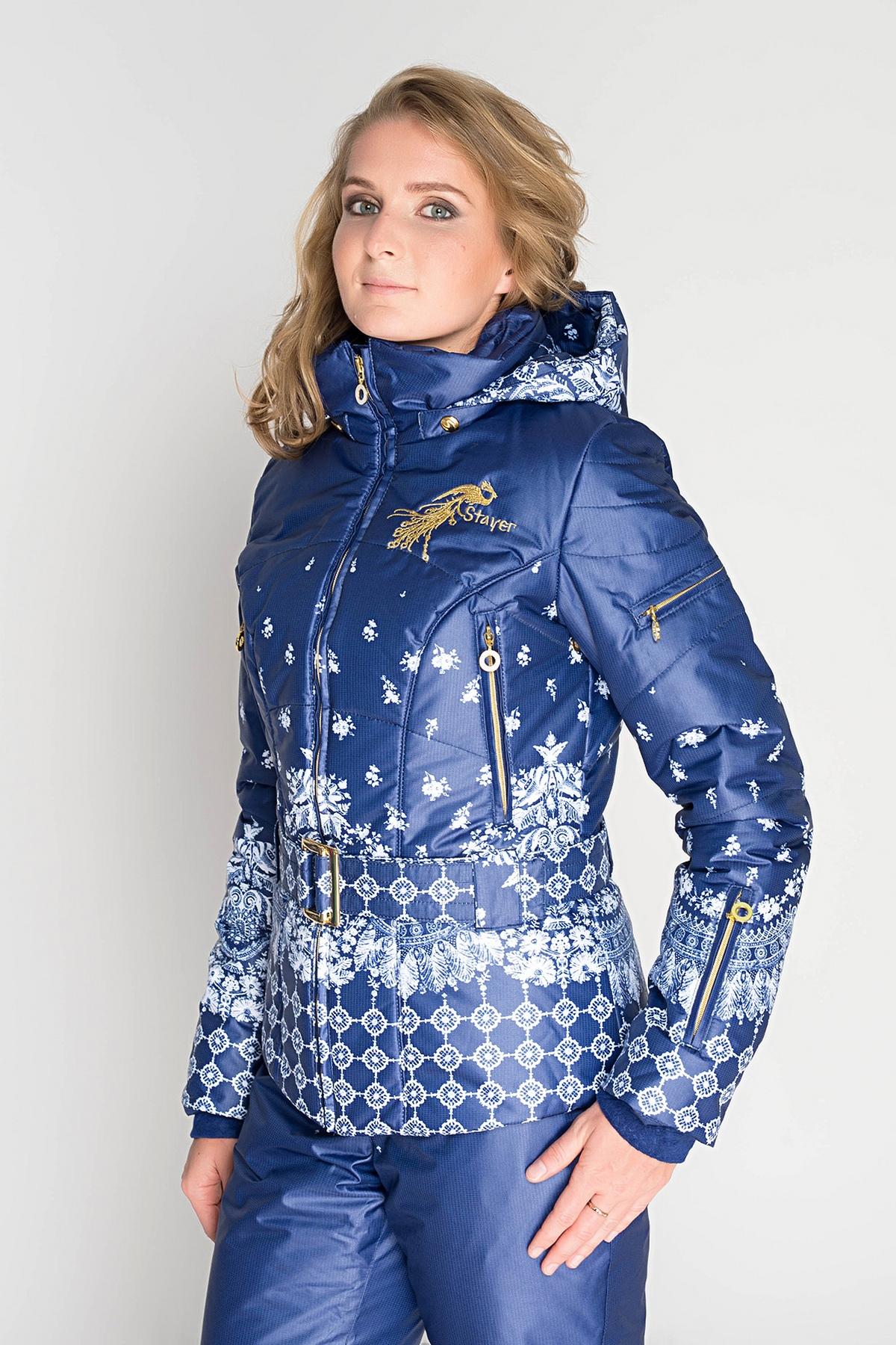 87b0106d Куртка утепленная Stayer зима мембранная синяя женская артикул 15 ...